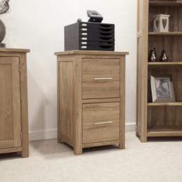 Modern Solid Oak 2 Drawer...