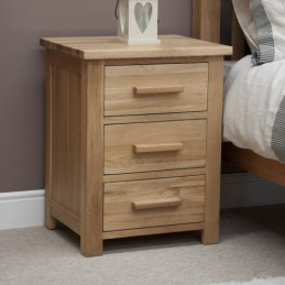 Modern Solid Oak 3 Drawer...