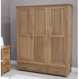 Modern Solid Oak Triple...