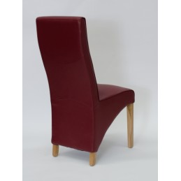 Wave Bonded Leather Dining...