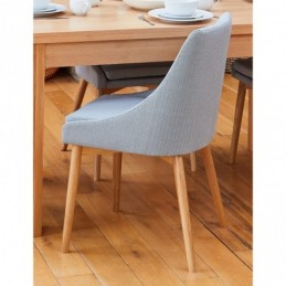 Mobel Oak Grey Chair (Pack...