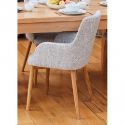 Mobel Oak Light Grey Chair...