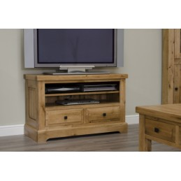 Deluxe Rustic Solid Oak TV...