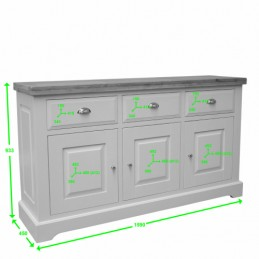 Deluxe Painted Solid Oak...