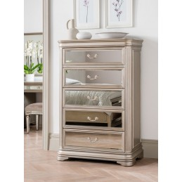 Jessy Mirrored Tall Chest