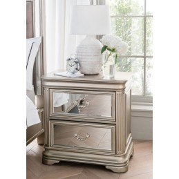 Jessy Mirrored Bedside Chest