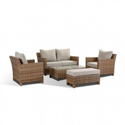 Santos 5 Piece Brown Rattan...