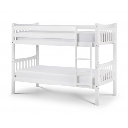 Zone White Bunk Bed Frame