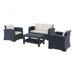 Monarch Dark Grey Rattan...