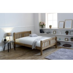 Selina Honey Pine Wooden Beds
