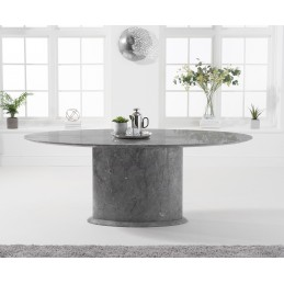 Alice Oval 200cm Grey Gloss...