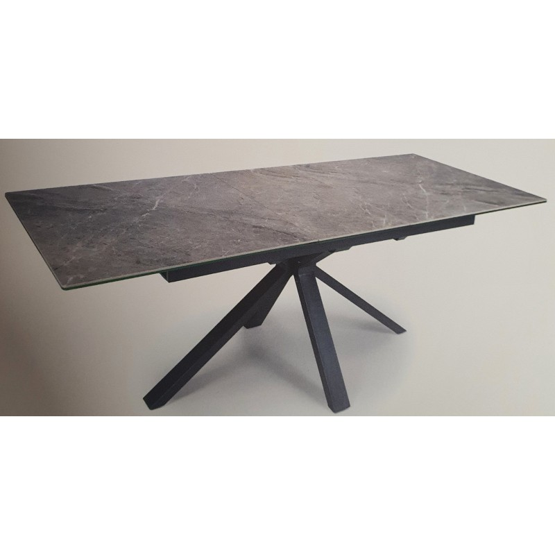 Travis Grey Ceramic 1 6 Extending Dining Table