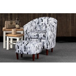 Byron Fabric Tub Chair And...