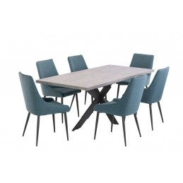 Here with the Teal Rimini chairs.