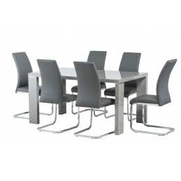 Grey gloss with 6 grey chairs!