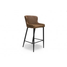 Chaz Leather Bar Stools - Pair