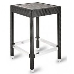 Malibu PE Rattan Poseur Table