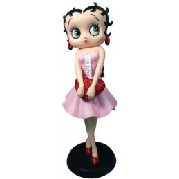Betty Boop Holding Red Heart