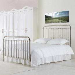 Rosie Chrome Nickel Metal Bed