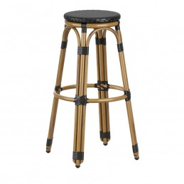 Wicker Weave Outdoor Bar Stool