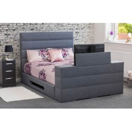 Tele George Fabric TV Bed