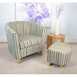 Fabric Tub Chair and Stool...