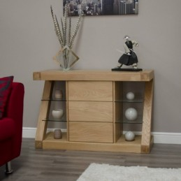 Zed Solid Oak Small Sideboard