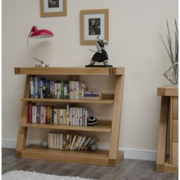 Zed Solid Oak Small Bookcase
