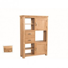 Treviso Oak High Display Unit