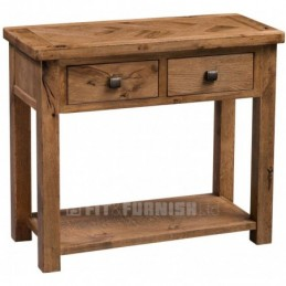 Aztec Rustic Oak Console Table