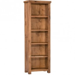 Aztec Rustic Oak Slim Bookcase