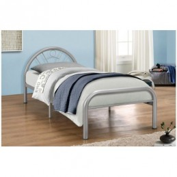 Solo Silver 3ft Metal Bed