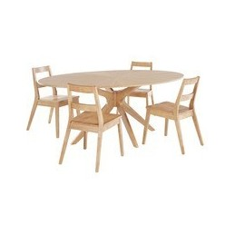 Malmo White Oak Oval Dining...