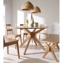 Malmo White Oak Dining Table