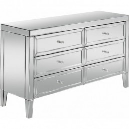 Valencia Mirrored 6 Drawer...