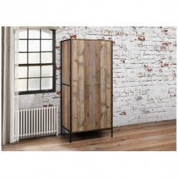 Urban Rustic 2 Door Wardrobe
