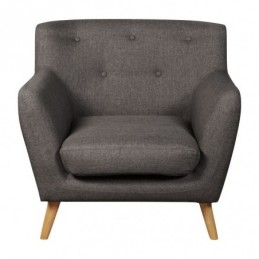 Eton Grey Fabric Armchair