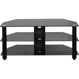 Bromley Black Glass TV Stand