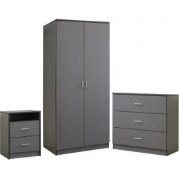 Felix Grey 3 Piece Bedroom Set
