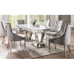 Truro Marble 1.8 Dining Table