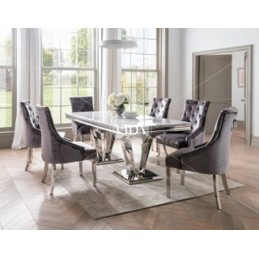 Truro Marble 2m Dining Table