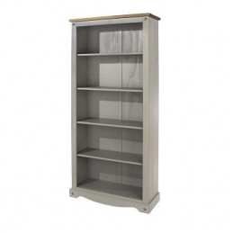 Core Corona Grey Tall Bookcase