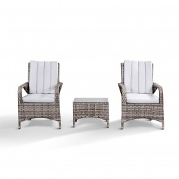 Rattan Bistro Set with Side...