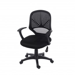 Loft Home Office Black Mesh...