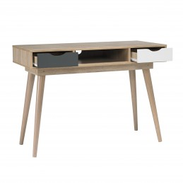 Scandi Oak Desk with Grey...