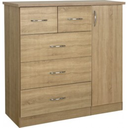 Nevada Sonoma Oak 5 Drawer...