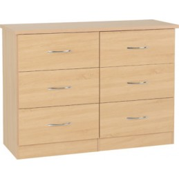 Nevada Sonoma Oak 6 Drawer...