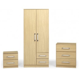 Jasper Oak Effect Bedroom Set