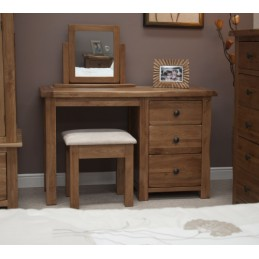 Rustic Oak Dressing Table &...