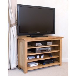Modern Solid Oak Corner TV...